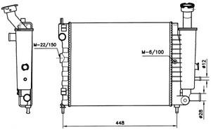 Reservdel:Citroen Ax 11 Kylare, motorkylning