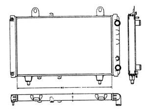 Reservdel:Citroen C2 Kylare, motorkylning