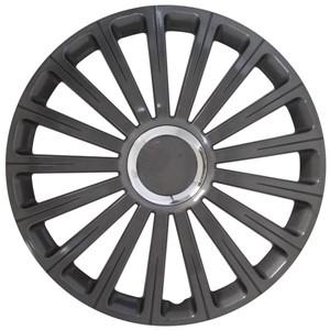 Hjulkapsler/navkapsler, Radical - Gunmetal   Kromring