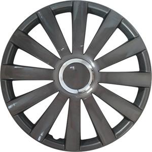 Hjulkapsler/navkapsler, Spyder - GunMetal   Kromring