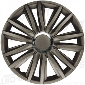 Hjulkapsler/navkapsler, Intenso Pro Dark +, Wheel cover set 13-tommer