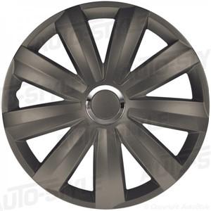 Wheel side, Venture Pro Dark +chrome ring Nylon, Wheel cover set 13-tommer.