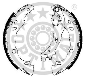 Reservdel:Citroen C3 Bromsbackar, sats, Bak