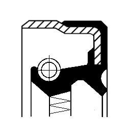 Oil Seal, wheel hub, Rear axle