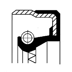 Akseltetningsring, differensial, Bakaksel, Ytre, Utgang