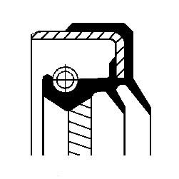 Akseltetningsring, differensial, Framaksel, Inngang
