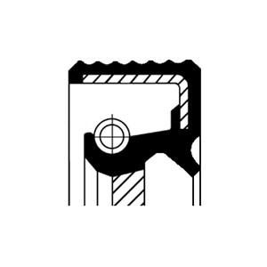 Akseltetningsring, differensial, Framside, Inngang, Utgang
