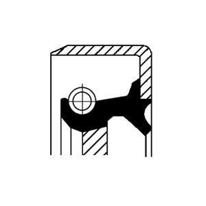 Akseltetningsring, differensial, Bakaksel, Foran, Inngang, Utgang