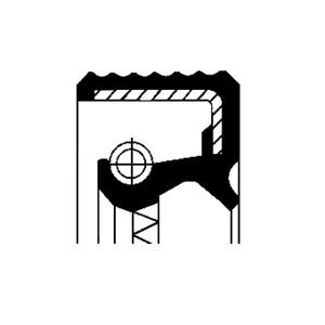 Akseltetningsring, differensial, Framside, Utgang, Venstre