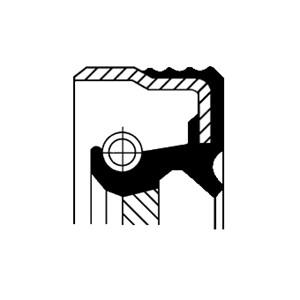 Axelpackning, mellanaxel, Utloppssida, Vänster