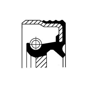 Akseltetningsring, automatgir, Framside, Inngang