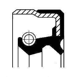 Oljepackningsring, hjullager, Framaxel