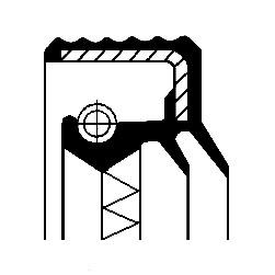 Oljetätningsring, fördelarväxel, Bakaxel, Fram, Höger, Utgång, Vänster