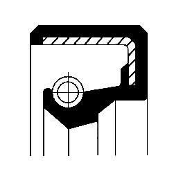 Akseltetningsring, differensial, Framaksel, Innvendig, Inngang, Utgang