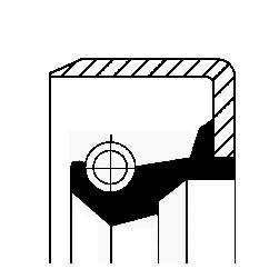 Oljepackningsring, hjullager, Bakaxel, Framaxel, Inre, Höger, Utgång