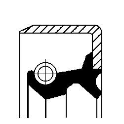 Akseltetningsring, differensial, Bakaksel, Framaksel