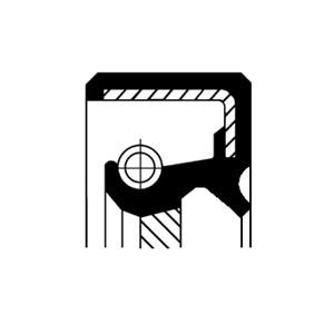 Akseltetningsring, automatgir, Høyre, Utgang, Venstre