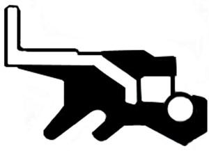 Akseltetningsring, differensial, Høyre, Utgang, Venstre
