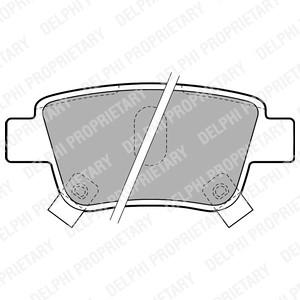Rear Delphi Brake Pads For Toyota Corolla 1.4 VVT-i 1.6 VVT-i 1.8 VVTL-i TS