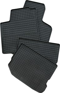 rubber mat Mega, Nissan X-Trail T30, Front and rear