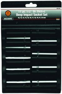 Krafthylssats 11 delar MM, Universal