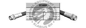 Reservdel:Citroen C3 Bromsslang, Bak, Fram, Inre, Höger, Vänster