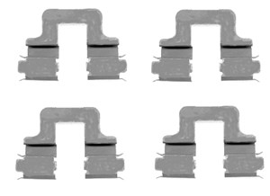 Accessory Kit, disc brake pads, Front, Rear, Rear axle