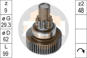 Freewheel Gear, starter