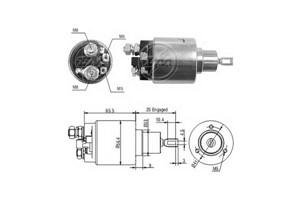 Magnetswitch, startmotor