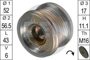 Freewheel Clutch, alternator