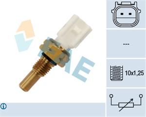 Sensor, kjølemiddeltemperatur, Foran kjøleren