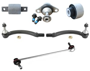 Link arm kit, front suspension, Left and right
