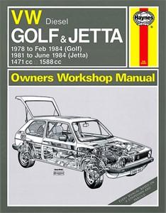 Haynes Reparationshandbok, VW Golf & Jetta Mk 1 Diesel, Universal