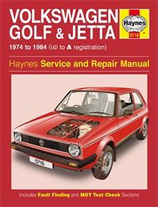 Haynes Reparationshandbok, VW Golf Jetta Mk 1 Petrol 1.1 1.3, Universal