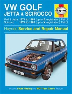 Haynes Reparationshandbok, VW Golf, Jetta Scirocco Mk1, Universal