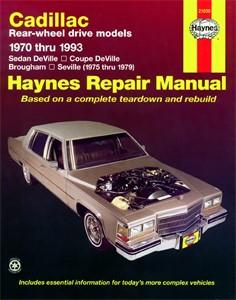 Haynes Reparationshandbok, Cadillac Rear-wheel drive, Universal