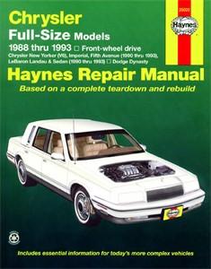 Haynes Reparationshandbok, Chrysler Full-Size (FWD), Universal