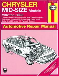 Haynes Reparationshandbok, Chrysler Mid-Size Sedans (FWD), Universal