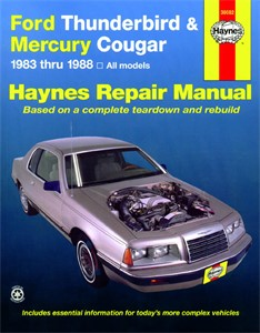Haynes Reparationshandbok, Ford Thunderbird & Mercury Cougar, Universal