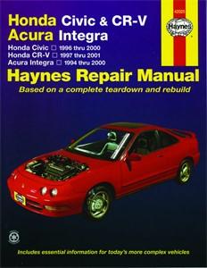 Haynes Reparationshandbok, Honda Civic, CR-V & Acura Integra, Universal