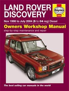 Haynes Reparationshandbok, Land Rover Discovery Diesel, Universal