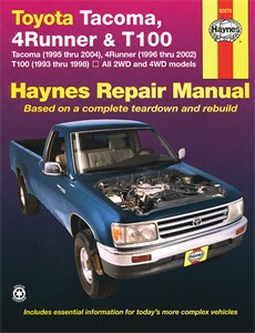Haynes Reparationshandbok, Toyota Tacoma, 4Runner & T100, Universal