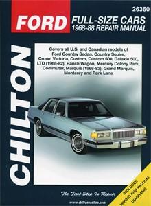 Haynes Reparationshandbok, Ford Full-size Cars, Universal