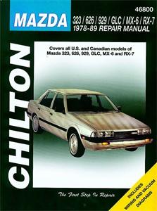 Haynes Reparationshandbok, Mazda 323/626/929/GLC/MX-6/ RX-7, Universal