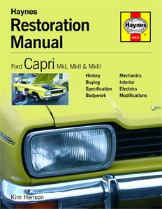 Ford Capri Restoration Manual, Universal