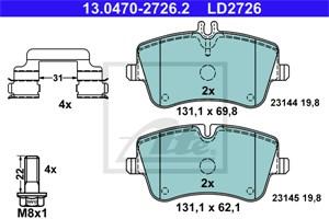 Reservdel:Mercedes Slk 200 Bromsbeläggsats, Fram