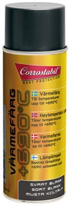 Varmelakk matt svart spray 400 ml, Universal