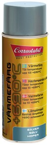 Värmefärg silver spray 400 ml, Universal