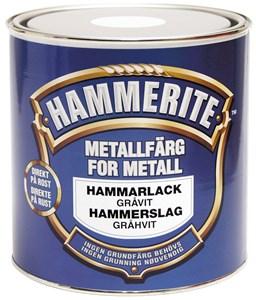 Hammerlakk gråhvit boks 2,5 liter, Universal