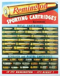 Blikkskilt/REM- Sporting Cartri, Universal
